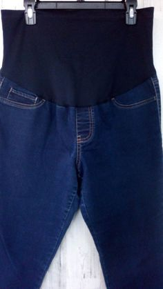 a07292420d6bc Liz Lange Materntiy Jeans Size Large Stretch Blue Denim Front Stretch Panel  #fashion #clothing