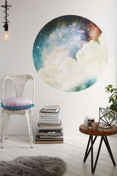 Walls Need Love Spacey Circle Decal - Urban Outfitters