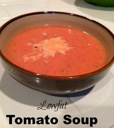 homemade lowfat tomato soup