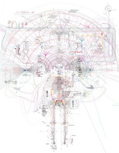 A Diagram of Somnolence ny Minjeong An. This piece is about the state of being half awake and half dreaming. Juxtaposing a dream in the awakened reality and a fantasy in a dream, I tried to visualize how organs work in the stage of somnolence (drowsiness) using signs and codes, including the anatomy of a brain, reactions within the nervous system, the link between the brain and the eyes, etc.