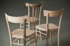 Di Corte, a série de cadeiras criadas pelas designers italianas Andrea Magnani, Giovanni Delvecchio e Elisabetta Amatori, do Resign studios.