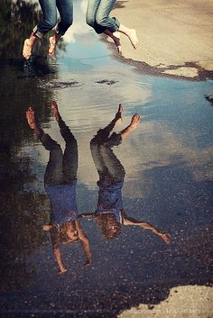 Reflection ideas. #What a great idea for a photography ✲#