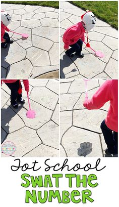 Swat the Number is the perfect outdoor game for insect/bug themed movement in tot school, preschool, or kindergarten.
