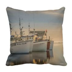 Cushion photo fishing vessels - photographer gifts business diy cyo personalize unique