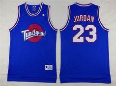 Men's The Movie Space Jam #23 Michael Jordan Blue Soul Swingman Baseketball Jersey