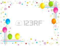 Illustration about Colorful balloons isolated on white background illustration, Greeting card / invitation border and frame. Illustration of card, birthday, graphic - 17149390 Birthday Greetings, Birthday Cards, Invitation Cards, Party Invitations, Party Frame, Princess Invitations, Birthday Frames, Colourful Balloons, Card Sentiments