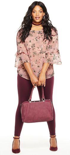 ad2d108627f6c Plus Size Chiffon Blouse - Plus Size Fall Outfit - Plus Size Fashion for  Women