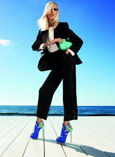 Anja Rubik for Giuseppe Zanotti Spring 2012 Campaign by Inez & Vinoodh