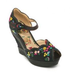 628e182855ff Miss L Fire Homemaker Wedges - style  homemaker leather wedges - black  Really