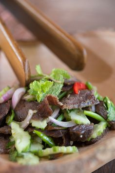 I never get sick of Thai food. Papaya salad, creamy curries, tangy-spicy-savory salads, and tantalizing stir-fries. This Beef Salad is sure to please