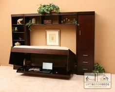 Wall Bed Desk Wall Decoration Ideas for size 999 X 800 Desk Bed Wall Unit - Many people in Florida are turning to Murphy beds, or wall beds, as a solution Murphy Bed Desk, Murphy Bed Plans, Desk Bed, Desk Chair, Murphy Table, Guest Room Office, Home Office, Guest Rooms, Office Desk