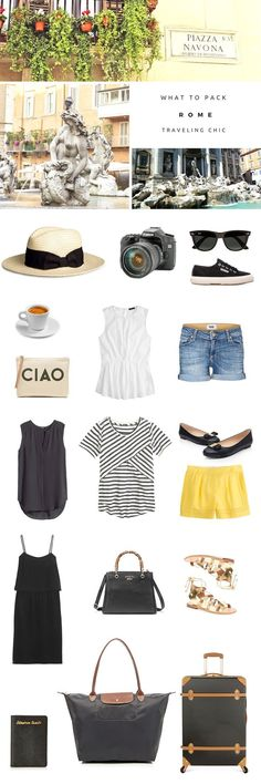 What to pack for a trip to Rome, Italy. The perfect packing list for a holiday abroad! Everything you need for travel to Europe and a guide for any summer vacation!