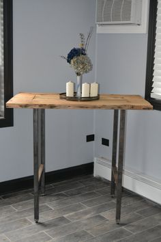 Reclaimed Wood Pub Table by RepurposedPast on Etsy