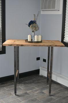 Reclaimed Wood Pub Table by RepurposedPast on Etsy