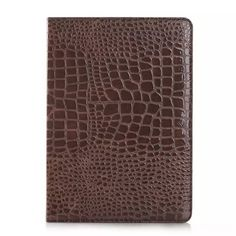 New Arrival Leather Case Smart Cover for Apple iPad Air 2,High Quality Crocodile Leather Case with Stand for Apple iPad 6 Air 2