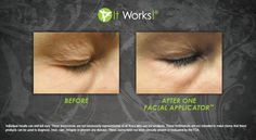 Before and after using the #FacialApplicator  https://destinedforsuccess.myitworks.com/Shop/Product/42
