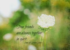 True Friends Quote Anne Green Gables Print L M Montgomery Nature Photography Always Together Spirit Writer Book Quote Friendship