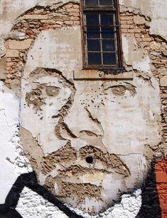 Vhils! A self portrait.  Lisbon, Portugal