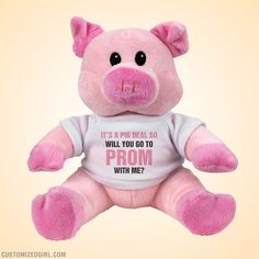 Customized Girl provides personalized clothes at low prices - customized fashions for individual girls! #prom #promposal #prompossibilities #plush #pig