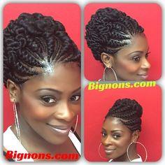 Bignon's African hair braiding torssadee cornrow - Best Hair Styles EVER Black Hair Updo Hairstyles, Flat Twist Hairstyles, Flat Twist Updo, African Braids Hairstyles, Twist Braids, Natural Hair Twists, Natural Hair Updo, Black Girl Braids, Braids For Black Hair