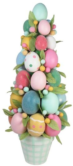 Celebrate Easter Together Artificial Egg Topiary Indoor Decor.  #affiliate