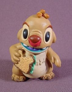 """Disney Lilo & Stitch Alien Cousin With A Sandwich PVC Figure, 2 1/8"""" Tall - RONS RESCUED TREASURES"""
