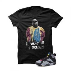 """Biggie Bordeaux 7s Black T Shirt. The Biggie Bordeaux 7s Black T Shirtis a premium quality sneakerhead t shirt. It matches with theAir Jordan 7 Retro """"Bordeaux"""" Sneakers. *************************************************************** FOLLOW US ON INSTAGRAM: @illCurrency FOLLOW US ON TWITTER: @ill_Currency LIKE US ON FACEBOOK: facebook.com/illcurrency FOLLOW US ON PINTREST:pinterest.com/illcurrency"""