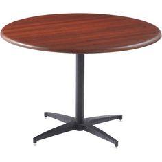 """Iceberg OfficeWorks 36"""" Mahogany Round Table"""