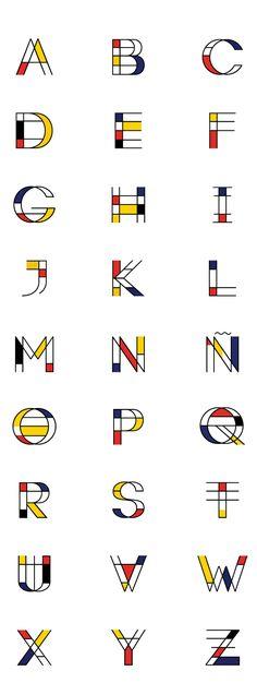 Mondrian | Free Font on Behance