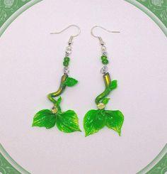 Green Mermaid tail earrings