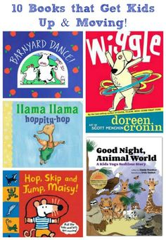 """Books that Keep Kids Active Get the kids up and moving with these """"just can't sit still"""" reads!Get the kids up and moving with these """"just can't sit still"""" reads! Preschool Books, Book Activities, Preschool Classroom, Indoor Activities, Sequencing Activities, Activity Books, Music Classroom, Preschool Ideas, Classroom Ideas"""