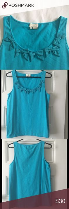 🐬Sweet Kate Spade Bow Tank🐬 Adorable! Women's large. Excellent used condition. Ask questions! kate spade Tops