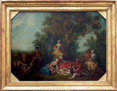 Nicolas LANCRET (1690 - 1743) L'automne  H. : 0,69 m. ; L. : 0,89 m. La série des quatre Saisons a été peinte en 1738 pour le Cabinet du roi au château de La Muette, près de Paris, détruit en 1793. Collection de Louis XV, roi de France (1715-1774). Musée Du Louvre