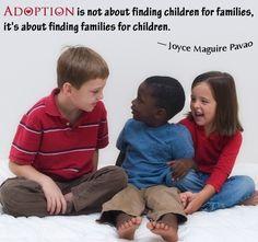 Adoption quote kids talking