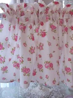 SHABBY SUMMER HOUSE PINK ROSES CHIC COTTAGE LIVING TWIN SHEET SET