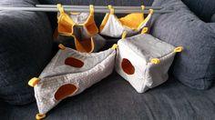 Pack for rats sugar gliders farrets  hammock by HammocksForPets
