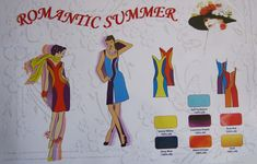 The Trend Board devoted to joyful summer dresses and possible trendy colours' combinations.