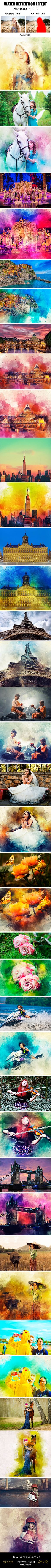 Water Reflection Effect Photoshop Action - Photo Effects Actions