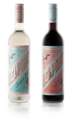 Delphis Wine Label - love the pastel coloring
