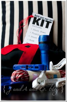 Fort kit for a birthday gift- This would be so fun for christmas presents, bday presents, and just cause presents for kids good behavior