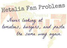 Hetalia Fan Problems #7 PASTAAA!, Burgers, DUDE!, tomato/potato bastards and bad scones... :)