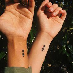 Semikolon-Tattoo: Seine wahre Bedeutung