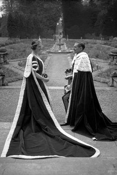The 15th Earl and Countess of Pembroke dressed for the coronation of George VI, 1937