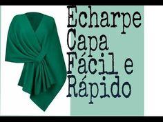 Echarpe/Capa Modelagem Fácil e Rápido. Diy - YouTube