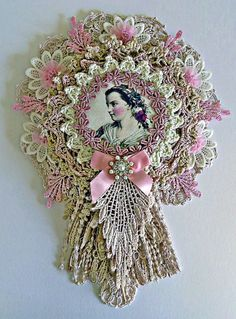 Doily wall hanging