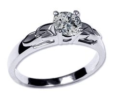 Solitaire Celtic Knot Round Engagement Ring i