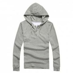 $8.69 New Style Korean Solid Color Simple Design Long Sleeve Hooded T-Shirt For Men