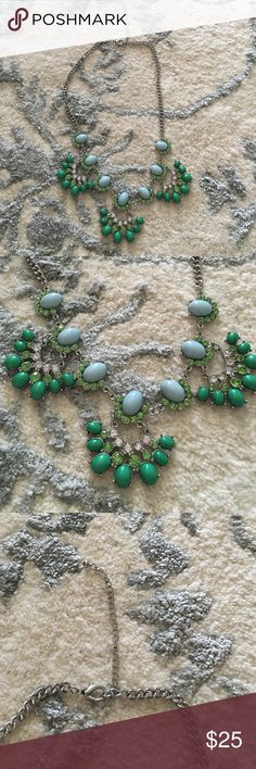 ❗️Price drop Fun turquoise necklace Turquoise and Lime green statement necklace!! Jewelry Necklaces