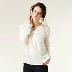 Henley Silk Blouse | The White Company