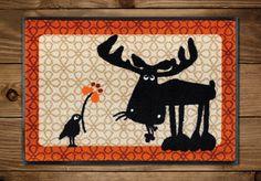 Fußmatten - Fußmatte Elch Heinrich & Fred - ein Designerstück von catsonappletrees bei DaWanda